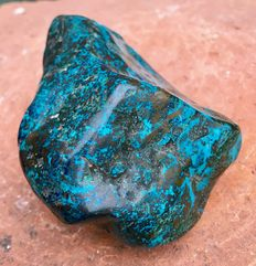 Polished Shattuckite tumble - 12,3 x 9,5 x 6,4cm - 875gm