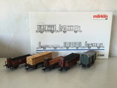 Märklin H0 - 47891 - Freight carriages from the fifties