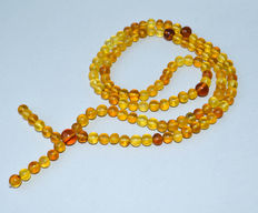Natural Baltic amber rosary 100% natural butterscotch, honey amber. Arabic style