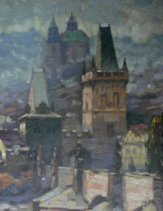 Jaroslav Prochazka (1886-1949) - View over Prague
