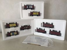 Märklin H0 - 48782/48783/48784 - Set of 2 freight carriages and 2 sets of 3 freight wagons
