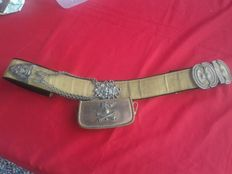 Royal Italian Army bandolier and sabretache