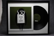 Banksy Art Cover LP Laugh Now Keep it Real -  Green Edition