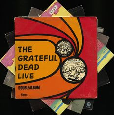 Jerry Garcia & The Grateful Dead lot of five albums incl. rare LIVE recordings and solo material