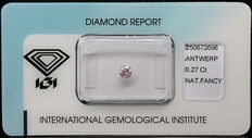 0.27 ct Fancy Pink Diamond – NO RESERVE