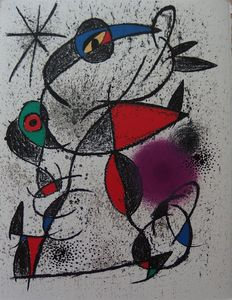 "Joan Miro (based on) - ""Jaillie du calcaire""  (spouted limestone)"