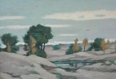 Attributed to Sieger Baukema (1852-1937) dune landscape.