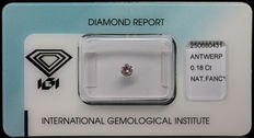 0.18 ct Natural Fancy Intense Pink Diamond – NO RESERVE