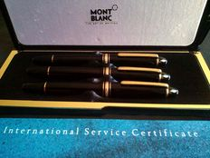Montblanc Meisterstück 146 Le Grand Triple Set, MB Meisterstück 146 Le Grand Fountain Pen M (14 K Nib), MB 146 Ballpoint, Montblanc 146 Document Marker