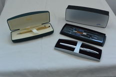 Cross ATX Matt Silver Chrome fountain pen and Cross Classic Century ballpoint pen