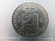 The Netherlands – ½ guilder 1898 Wilhelmina – Silver