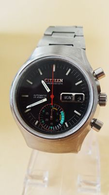 "Citizen ""Helmet Flyback"" - Heren chronograaf - jaren 70"