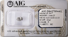 AIG Sealed 0.66  ct Loose Oval cut diamond F colour,  SI2   ** Low Reserve **