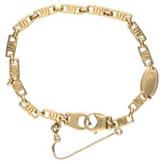 18 kt yellow gold link bracelet. With safety clasp - Length: 22 cm