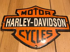 Harley-Davidson enameled sign - 3rd quarter 20th century,