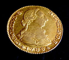 Spain – Carlos III 1759-1788 – Doubloon of 2 escudos 1788, Madrid – Gold