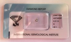 Diamond 0.21 ct brilliant SI1 River (E) IGI