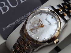 Bulova lady luxury love diamond watch