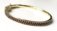 Silver bracelet with garnet 6.50 ct – Gold plated