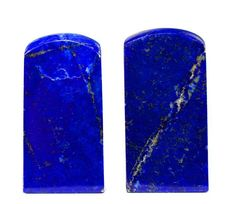 Pair of fine quality Royal Blue Lapis Lazuli blocks - 48mm and 53mm - 197gm  (2)