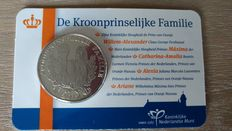 "The Netherlands – Medal 2012 ""The Crown Prince's Family"" in a coin card"