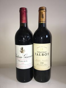 1999 Chateau Giscours, Margaux 3ème Grand Cru Classe & 1998 Chateau Talbot, Saint-Julien 4ème Grand Cru Classe – 2 bottles in total