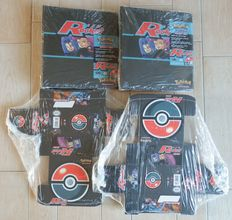 Pokemon - 2 Team Rocket Album Binders + 24 Deck Boxes for Trading Cards