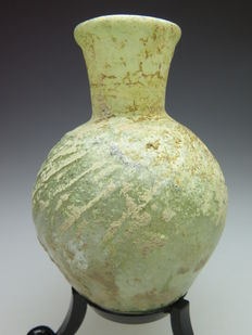 Roman decorated glass bottle - 68 mm