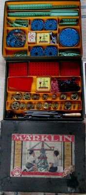 Märklin, Germany – Construction box no. 1-3 ( 71a), 1930s