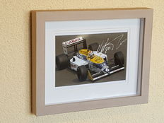Nelson Piquet Snr. - 3-times world champion Formula 1 - original autographed official framed photo F1 + COA.
