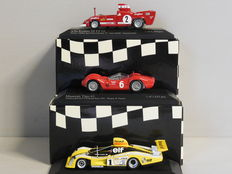 Minichamps - Scale 1/43 - Lot with 3 classic sports car models: Alfa Romeo, Maserati and Renault Alpine