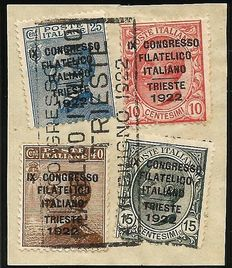 Kingdom of Italy, 1922, philatelic congress, catalogue 123/126