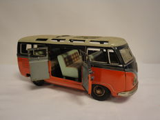 TippCo, Western Germany - Length 23 cm - Tin Volkswagen Samba bus TCO - 020 with friction motor, 1950s