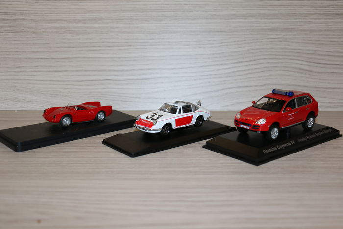 Norev / Eligor /Jolly Model - Scale 1/43 - Lot with 3 x Porsche