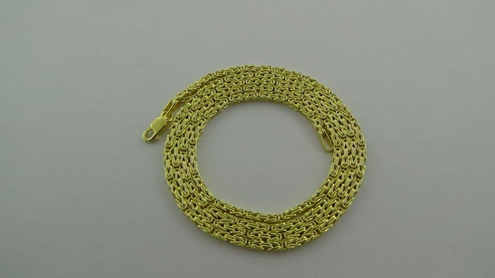 14 kt Gold Byzantine link necklace, length 55 cm