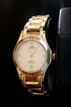 Delma - 18 kt (750) yellow watch for ladies