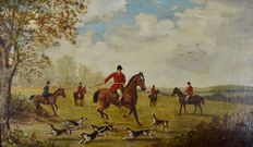 A Weaver (19/20th century) - A fox hunt. Picking up the scent.
