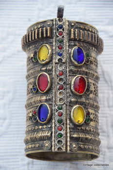 Decorated authentic old Afghan bracelet - XX century
