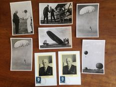 The Netherlands 1954 - Youth and aviation: 8 cards/photos, signed