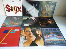 "Lot with 8 STYX albums(Classic Rock/Symphonic Rock) and 1 E.L.O. album in a very good state:""Pieces of Eight"",""Paradise Theatre"",""Caught in the Act(2lp), ""Cornerstone"",""Kilroy was Here"",""Equinox"",""the Grand Illusion"",""STYX II"", ELO ""Balance of Power"""