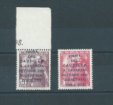 Spain 1951 – Caudillo visit to Canary Islands – Edifil 1088/1089