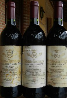 1991 Vega Sicilia Unico – 3 numbered bottles