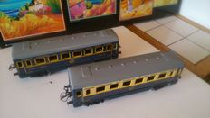 Hornby, France - scale 0 - set of 2 sheet metal carriages, 50s