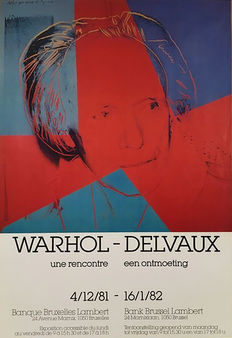2 x Andy Warhol - 10 Statues Of Liberty 1986 & Warhol - Delvaux, une rencontre