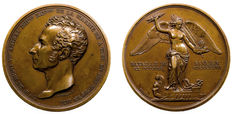"France – 19th century – ""Comte Henri de Rigny/Battle of Navarino"" medal by Domard – Bronze"