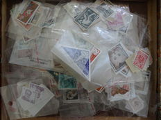 World – collection of stamps/series in bags