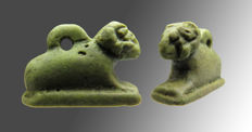 Egyptian faience Ram - 22 mm