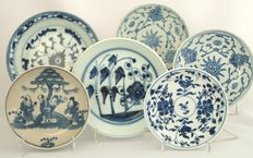Six plates - China - 17th/18th/19th century