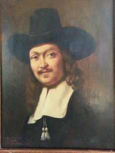 Unknown artist (20th century) 1 of the syndics by Rembrandt
