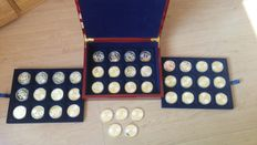 Europe - collection of various Europe medals (41 pieces) in box.